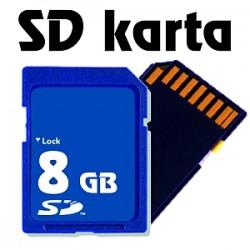 Paměťová karta SD - 8 GB
